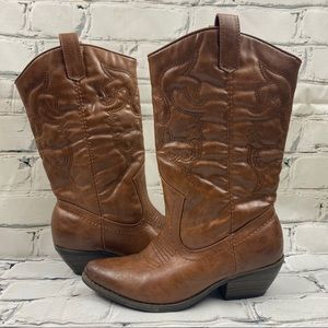 Call it spring vegan leather cowboy boots